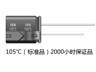 Small Aluminum electrolytic capacitors SKM
